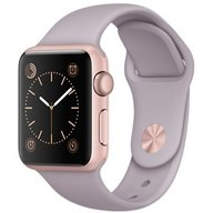 Watch Apple Watch Sport 38mm Rose Gold Aluminum Case with Lavender Sport Band CPO (MLCH2)