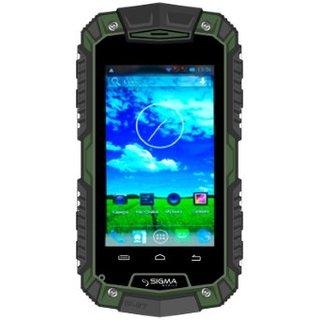 Смартфон и мобильный телефон Sigma mobile Х-treme PQ15 Green Black (UA UCRF)
