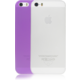 Аксессуар для iPhone Ozaki O!coat-0.3 Jelly 2 in 1 Clear and Purple (OC534CU) for iPhone SE/5S