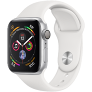Watch Apple Watch Series 4 40mm GPS Silver Aluminum Case with White Sport Band (MU642)
