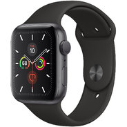 Apple Watch Series 5 44mm GPS Space Gray Aluminum Case with Black Sport Band (MWVF2)
