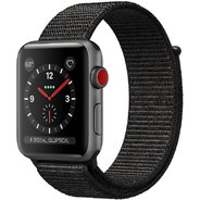 Apple Watch Series 3 42mm GPS+LTE Space Gray Aluminum Case with Black Sport Loop (MRQF2)