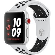 Apple Watch Series 3 Nike+ 42mm GPS+LTE Silver Aluminum Case with Pure Platinum/Black Nike Sport Band (MQLC2)