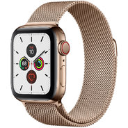 Apple Watch Series 5 40mm GPS+LTE Gold Stainless Steel Case with Gold Milanese Loop (MWWV2)