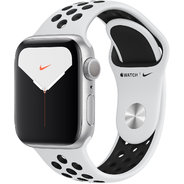 Apple Watch Series 5 Nike+ 40mm GPS Silver Aluminum Case with Pure Platinum/Black Nike Sport Band (MX3R2)