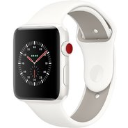 Apple Watch Series 3 Edition 42mm GPS+LTE White Ceramic Case with Soft White/Pebble Sport Band (MQKD2)