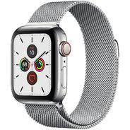Apple Watch Series 5 40mm GPS+LTE Stainless Steel Case with Silver Milanese Loop (MWWT2)
