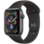 Apple Watch Series 4 44mm GPS Space Gray Aluminum Case with Black Sport Band (MU6D2)