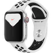 Apple Watch Series 5 Nike+ 40mm GPS+LTE Silver Aluminum Case with Pure Platinum/Black Nike Sport Band (MX372)
