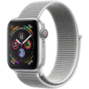Apple Watch Series 4 40mm GPS Silver Aluminum Case with Seashell Sport Loop (MU652)