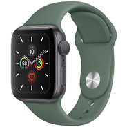 Apple Watch Series 5 40mm GPS Space Gray Aluminum Case with Pine Green Sport Band