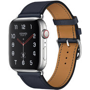 Apple Watch Series 4 Hermes 44mm GPS+LTE Stainless Steel Case with Bleu Indigo Swift Leather Single Tour (MU6W2)