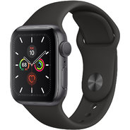 Apple Watch Series 5 40mm GPS Space Gray Aluminum Case with Black Sport Band (MWV82)