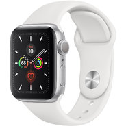 Apple Watch Series 5 40mm GPS Silver Aluminum Case with White Sport Band (MWV62)