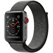 Apple Watch Series 3 42mm GPS+LTE Space Gray Aluminum Case with Dark Olive Sport Loop (MQK62)