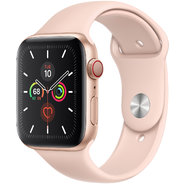 Apple Watch Series 5 44mm GPS+LTE Gold Aluminum Case with Pink Sand Sport Band (MWW02)