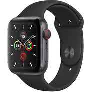 Apple Watch Series 5 44mm GPS+LTE Space Gray Aluminum Case with Black Sport Band (MWW12)