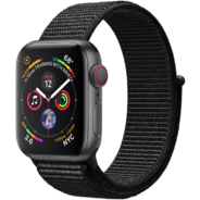 Apple Watch Series 4 40mm GPS+LTE Space Gray Aluminum Case with Black Sport Loop (MTUH2, MTVF2)