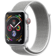 Apple Watch Series 4 40mm GPS+LTE Silver Aluminum Case with Seashell Sport Loop (MTVC2, MTUF2)