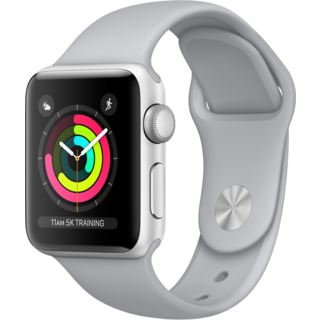 Watch Apple Watch Series 3 38mm GPS Silver Aluminum Case with Fog Sport Band (MQKU2)