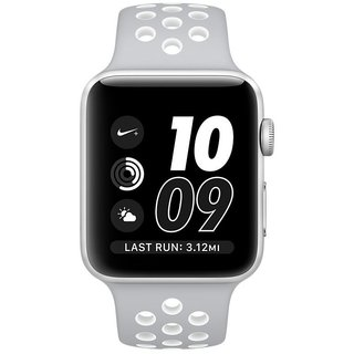 Картинки по запросу Apple Watch Nike+ 38mm Silver Aluminum Case With Silver/White Nike Sport Band (MNNQ2)