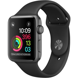 Картинки по запросу Apple Watch Series 2 42mm Space Gray Aluminum Case With Black Sport Band (MP062)