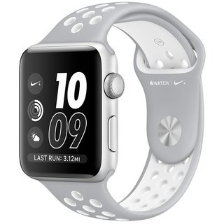 Картинки по запросу Apple Watch Nike+ 42mm Silver Aluminum Case With Silver/White Nike Sport Band (MNNT2)