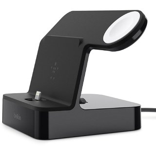 Держатель и док-станция Belkin Dock Stand Valet Charge Black (F8J200vfBLK) for iPhone and Apple Watch