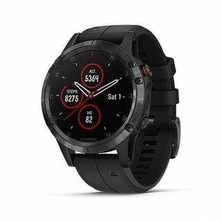 Garmin Fenix 5 Plus, Sapphire Black with Black Silicone (010-01988-01)