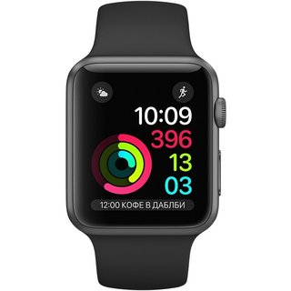 Картинки по запросу Apple Watch Series 1 42mm Space Gray Aluminum Case with Black Sport Band (MP032)
