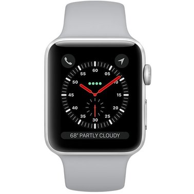 Apple Watch Series 3 GPS 38mm Silver Aluminium Case with Fog Sport (MQKU2FS A)