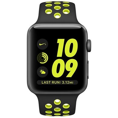Aliado cheque Adepto  Apple Watch Nike+ 42mm Space Gray Aluminum Case with Black/Volt Nike Sport  Band (MP0A2). Купить Apple Watch Nike+ 42mm Space Gray Aluminum Case with  Black/Volt Nike Sport Band (MP0A2) по низкой цене
