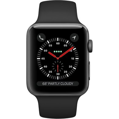 Watch Apple Watch Series 3 42mm GPS Space Gray Aluminum Case with Black  Sport Band (MQL12). Купить Watch Apple Watch Series 3 42mm GPS Space Gray  Aluminum ... 08038e94af55b