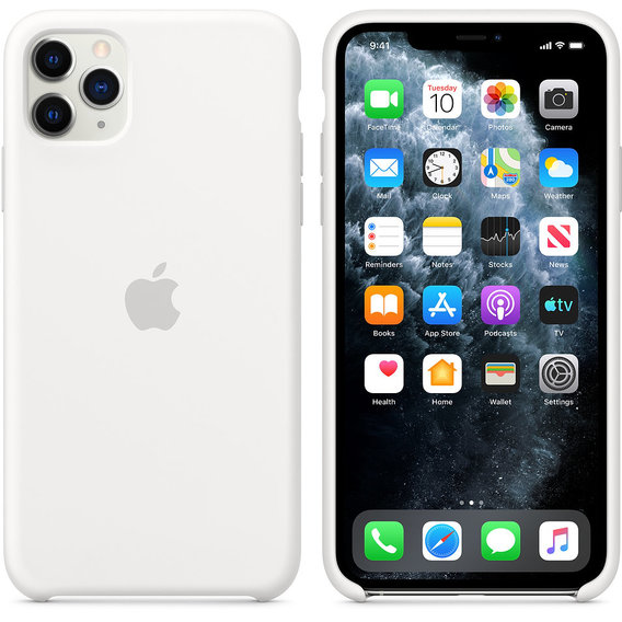 Аксессуар для iPhone Apple Silicone Case White (MWYX2) for iPhone 11 Pro Max