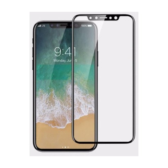 Аксессуар для iPhone Tempered Glass Black for iPhone X/iPhone Xs