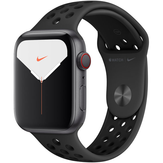 Apple Watch Series 5 Nike+ 44mm GPS+LTE Space Gray Aluminum Case with Anthracite/Black Nike Sport Band (MX3A2)