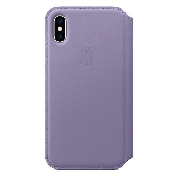 Аксессуар для iPhone Apple Leather Folio Case Lilac (MVF92) for iPhone Xs