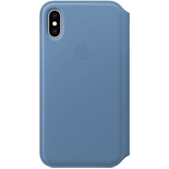 Аксессуар для iPhone Apple Leather Folio Case Cornflower (MVFD2) for iPhone Xs