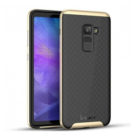 Аксессуар для смартфона iPaky TPU+PC Black/Gold for Samsung A730 Galaxy A8 Plus