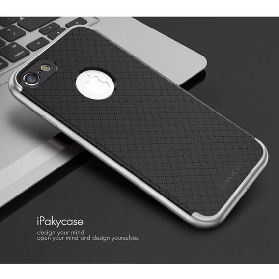 Аксессуар для iPhone iPaky TPU+PC Black/Silver for iPhone 8/iPhone 7