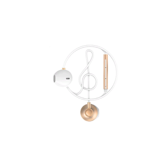 Наушники WK Wired Earphone Gold (WE300)