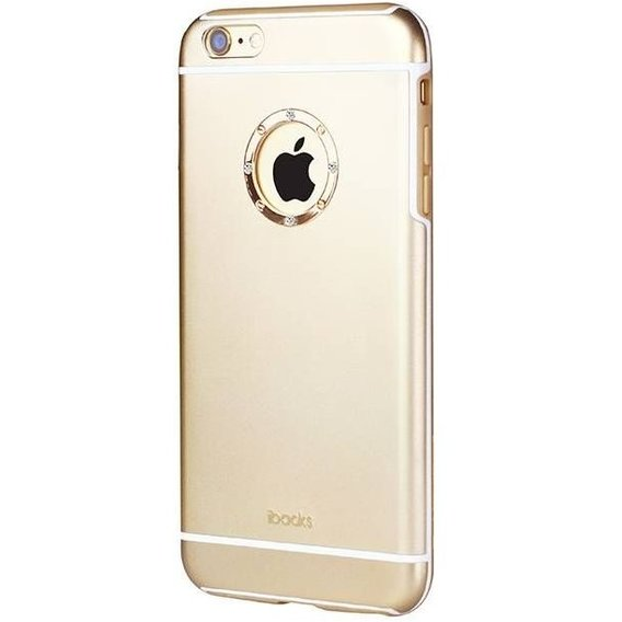 Аксессуар для iPhone iBacks Ares Armour Love with Crystal Diamond Champagne Gold for iPhone 6S Plus