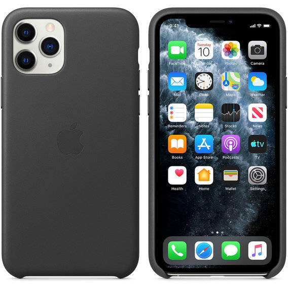 Аксессуар для iPhone Apple Leather Case Black (MX0E2) for iPhone 11 Pro Max
