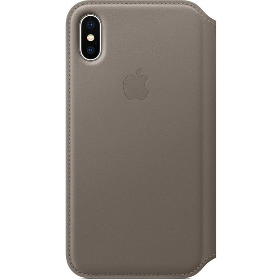 Аксессуар для iPhone Apple Leather Folio Case Taupe (MQRY2) for iPhone X