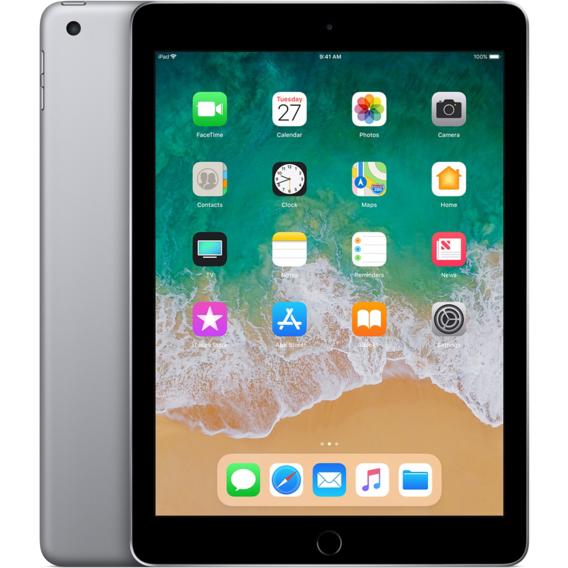 Планшет Apple iPad Wi-Fi + LTE 32GB Space Gray (MR6Y2) 2018