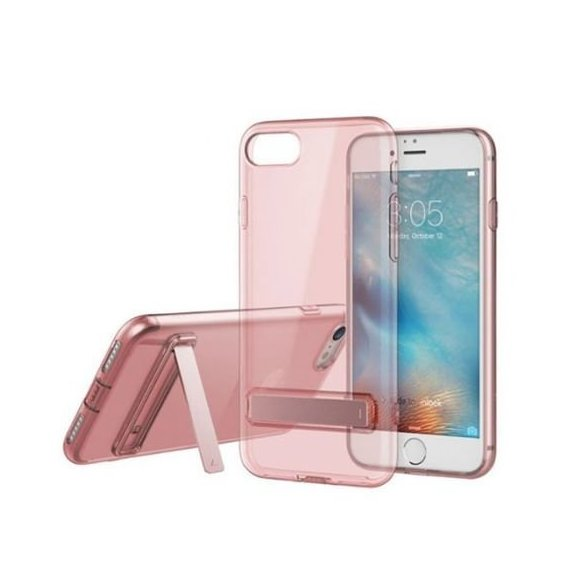 Аксессуар для iPhone Rock TPU Slim Jacket with Stand function Transparent Pink for iPhone 8/iPhone 7