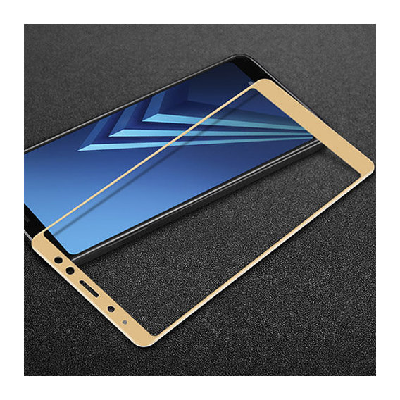 Аксессуар для смартфона Tempered Glass Gold for Samsung A730 Galaxy A8 Plus