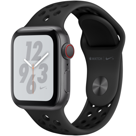 Apple Watch Series 4 Nike+ 40mm GPS+LTE Space Gray Aluminum Case with Anthracite/Black Nike Sport Band (MTX82)