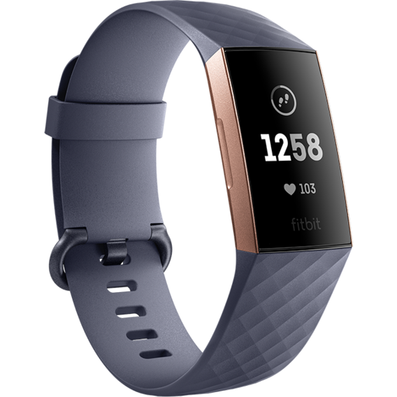 Фитнес-браслет Fitbit Charge 3, Blue Gray/Rose Gold Aluminum