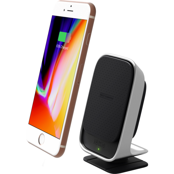 Держатель и док-станция iOttie Car and Desk Holder Wireless Fast Charging Black (HLCRIO133)